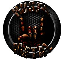 Rusty Metal Band Logo (Circle) Photographic Print