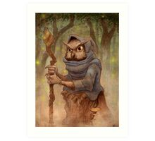 Ugla the Owl Wizard Art Print