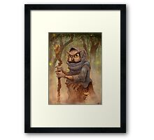 Ugla the Owl Wizard Framed Print