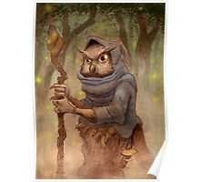 Ugla the Owl Wizard Poster