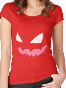 Haunter face Women's Fitted Scoop T-Shirt