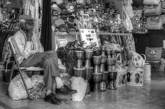 Straw Market Vendor in Nassau, The Bahamas by 242Digital