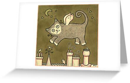 Cat Dreaming by Anita Inverarity