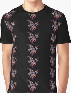 Magenta Bouquet Graphic T-Shirt