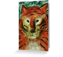 The big cat, watercolor Greeting Card