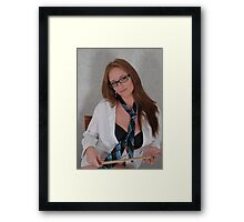 Measuring stick Framed Print