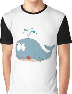 Cartoon whale Graphic T-Shirt