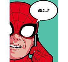 Spiderman calling Pop Art Photographic Print