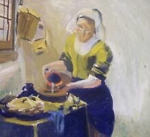 "Reproduction of ""The Milkmaid"" 45 Minute Study by Debbie Douglass"