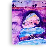 From Greece with love, watercolor Canvas Print