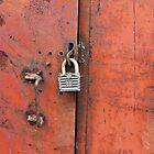 padlock on the door by mrivserg