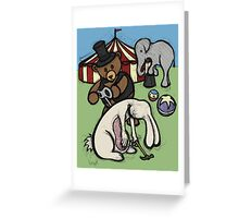 Teddy Bear And Bunny - Start The Madness Again Greeting Card