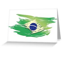 Brazil Torn-style Flag Greeting Card