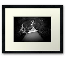 A clear path ahead. Framed Print