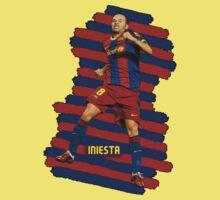 Iniesta - BCN football player Kids Tee