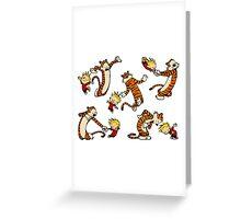 calvin and hobbes Dance Greeting Card