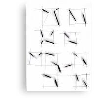 quadrats with diagonal lines Canvas Print