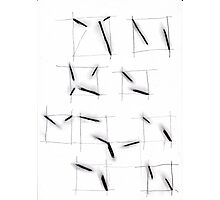 quadrats with diagonal lines Photographic Print