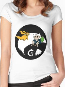 The nightmare before christmas time Women's Fitted Scoop T-Shirt