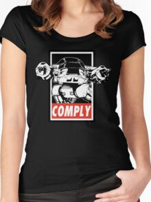 Obey ED-209 Women's Fitted Scoop T-Shirt
