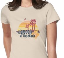 Queen of the Beach Womens Fitted T-Shirt