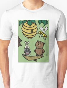 Teddy Bear And Bunny - Without Risk There Is No Reward T-Shirt