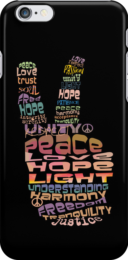 Peace sign iPhone and iPod case by © Karin Taylor