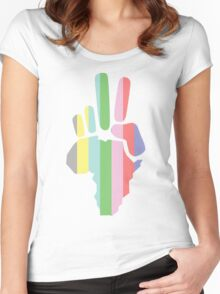 Africa Peace Women's Fitted Scoop T-Shirt