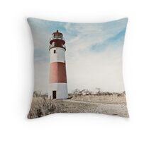Sankaty Head Lighthouse on the island of Nantucket MA Throw Pillow