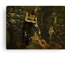 The Gravedigger Canvas Print