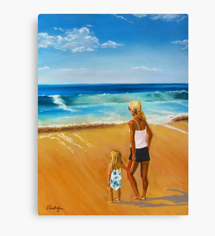 G and Me at the Sea ... A Moment of Wonder Canvas Print