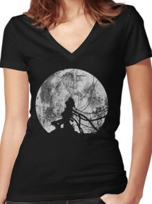 Shell of a ghost! Women's Fitted V-Neck T-Shirt
