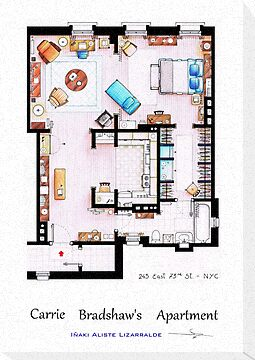 Carrie Bradshaw's Apartment Floorplan v.2 by Iñaki Aliste Lizarralde