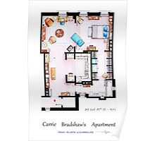 Carrie Bradshaw's Apartment Floorplan v.2 Poster