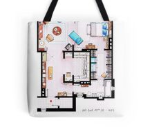 Carrie Bradshaw's Apartment Floorplan v.2 Tote Bag