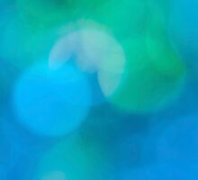 Fun blue green aqua abstract design by Marianne Campolongo