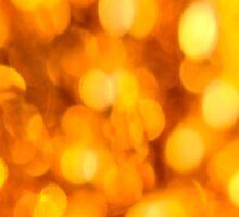 Gold light blur circles abstract design by Mariannne Campolongo