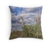 Tall Grass and Sky Throw Pillow