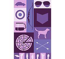 purple minimalist Photographic Print