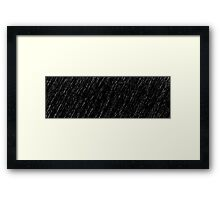 A Storm of White Rain Framed Print