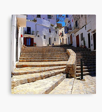 Ibiza Old Town Canvas Print