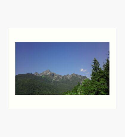 White Chuck Mountain Art Print