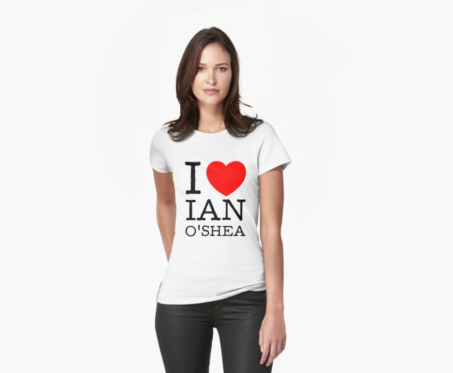I LOVE IAN O'SHEA (black type) by freakysteve