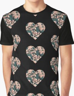Don't Be a Dick Floral Heart Graphic T-Shirt