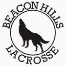 Teen Wolf - Beacon Hills Lacrosse Tee (Black Print) by kinxx