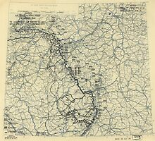 March 22 1945 World War II Twelfth Army Group Situation Map by allhistory