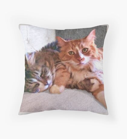 """""""Sophie & Ginger"""" Close Up Throw Pillow"""
