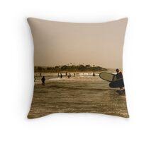 San Diego Surfing Throw Pillow