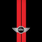 Mini Cooper Stripes - Black & Red by mrmini