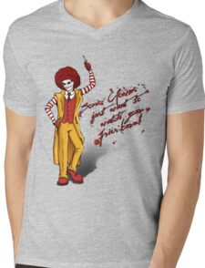Some clowns just want to watch your fries burn! Mens V-Neck T-Shirt